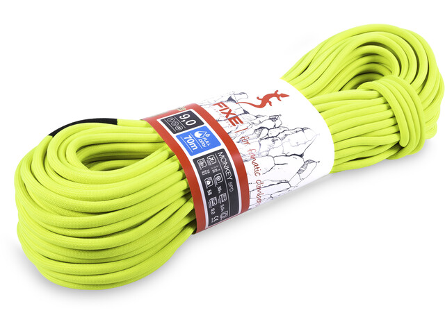 Fixe Monkey SPD FullDry Rope 9,0mm x 80m neon yellow